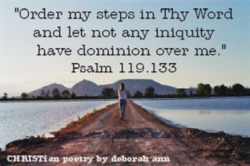 Establish My Steps ~ CHRISTian poetry by deborah ann