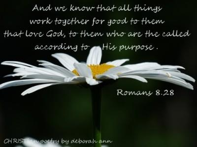 For Our GOod ~ CHRISTian poetry by deborah ann
