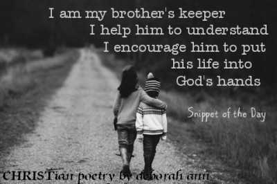 Snippet of the Day ~ 07.28.16~ CHRISTian poetry by deborah ann