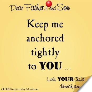 STICKY NOTE TO GOD ~ CHRISTian poetry by deborah ann ~ 07.27.16 ~