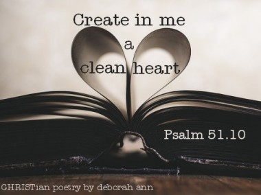 Touched Anew ~ CHRISTian poetry by deborah ann