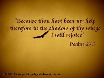 In The Shadow ~ CHRISTian poetry by deborah ann