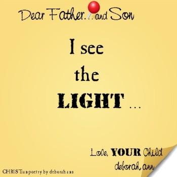 STICKY NOTE TO GOD ~ CHRISTian poetry by deborah ann ~ 08.10.16 ~