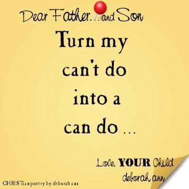 STICKY NOTE TO GOD ~ CHRISTian poetry by deborah ann ~ 08.18.16 ~