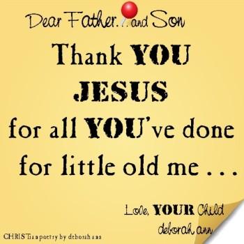 STICKY NOTE TO GOD ~ CHRISTian poetry by deborah ann ~ 08.22.16 ~
