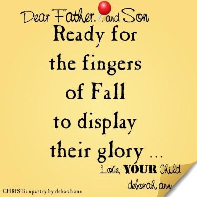 STICKY NOTE TO GOD ~ CHRISTian poetry by deborah ann ~ 09.01.16 ~