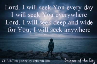 Snippet of the Day ~ 09.02.16 ~ CHRISTian poetry by deborah ann