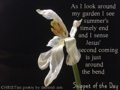 Snippet of the Day ~ 09.03.16 ~ CHRISTian poetry by deborah ann
