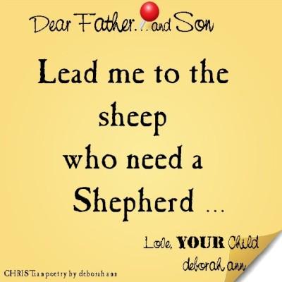 STICKY NOTE TO GOD ~ CHRISTian poetry by deborah ann ~ 09.04.16 ~
