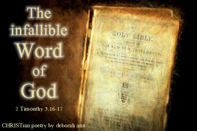 The Infallible Word of God ~ | CHRISTian poetry ~ by ...