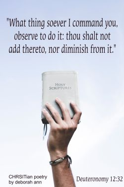 The Undiluted Word of God ~ CHRISTian poetry by deborah ann