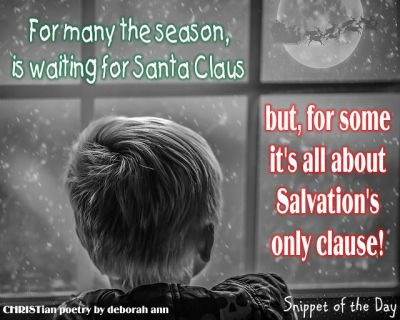 The CHRISTmas Clause ~ CHRISTian poetry by deborah ann