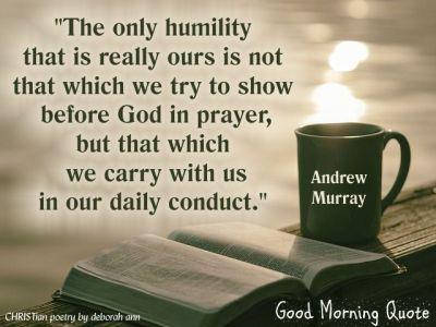 Humility Christian Poetry By Deborah Ann