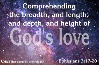 God's Love Poems | CHRISTian poetry ~ by deborah ann