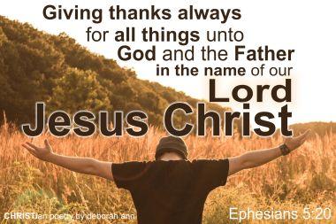 In The Name of Jesus ~ CHRISTian poetry by deborah ann