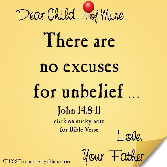 unbelief christian poetry by deborah ann