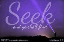Hello God ~ CHRISTian poetry by deborah ann