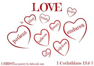 love is blind ~ christian poetry by deborah ann