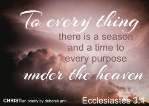seasons ~ christian poetry by deborah ann