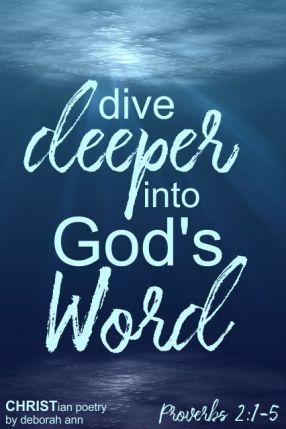 Deeper Things ~ CHRISTian poetry by deborah ann ~ free to use