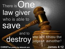 If We're Not To Judge ~ CHRISTian poetry by deborah ann ~ free to use
