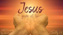 In Jesus' Name ~ CHRISTian poetry by deborah ann ~ free to use