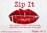 Lips Zipped ~ CHRISTian poetry by deborah ann free to use