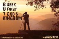 Seeking God's Kingdom ~ CHRISTian poetry by deborah ann free to use