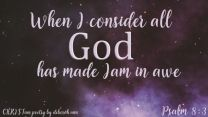 The Glorious Works of God ~ CHRISTian poetry by deborah ann free to use