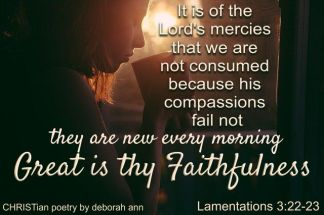 A Sip From God's Mercy Cup ~ CHRISTian poetry by deborah ann free to use