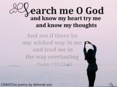 A Heart Searched By God ~ CHRISTian poetry by deborah ann free to use