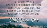 Perfect Vision ~ CHRISTian poetry by deborah ann free to use