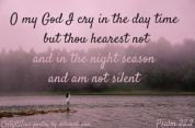 When God Is Silent ~ CHRISTian poetry by deborah ann free to use