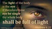 Wise Eyes ~ CHRISTian poetry by deborah ann free to use