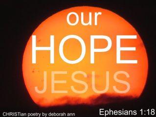 Our Hope ~ CHRISTian poetry by deborah ann belka ~ free to use