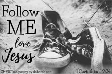 Entering The Faithful Race ~ CHRISTian poetry by deborah ann free to use