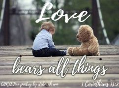 Love Bears ~ CHRISTian poetry by deborah ann free to use