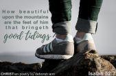 Beautiful Feet ~ CHRISTian poetry by deborah ann free to use