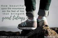 Beautiful Feet ~ CHRISTian poetry by deborah ann free to use